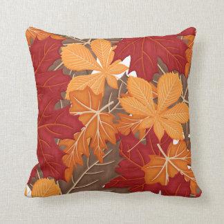 Autumn Fall Leaves Throw Cushions