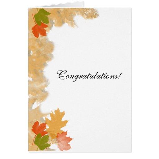 Autumn Fall Leaves Wedding Congratulations Zazzle