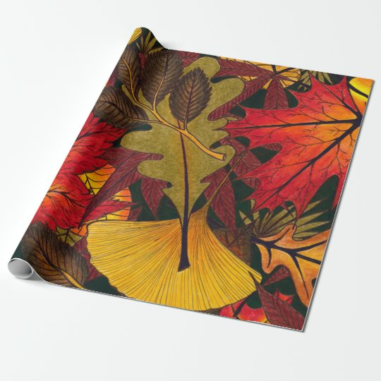 Autumn / Fall Leaves - Wrapping Paper for