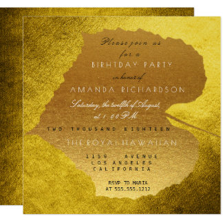 Autumn Fall Mustard Golden Leaves Birthday Party 13 Cm X 13 Cm Square Invitation Card