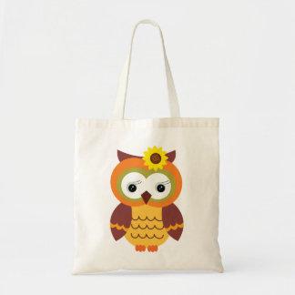 Autumn Fall Owl Tote Bag