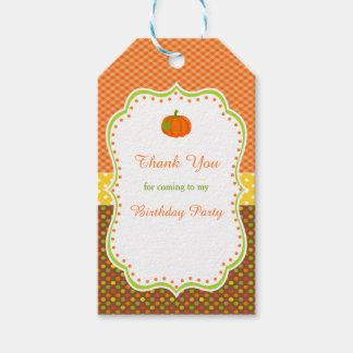 Autumn Fall Pumpkin Gift Tag