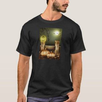 Autumn Fall Pumpkins Moon Night Destiny T-Shirt