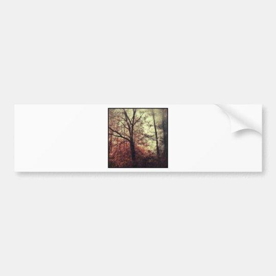 Autumn fall tree silhouettes bumper sticker