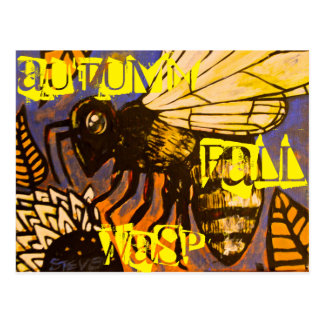 Autumn Fall Wasp Postcard