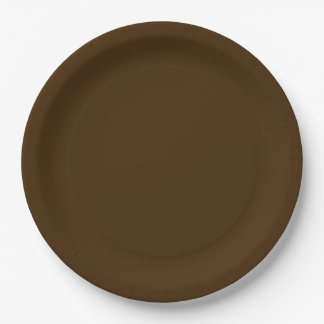 Autumn Fall Wedding Brown Rich Deep Rustic Color 9 Inch Paper Plate