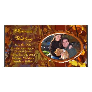 Autumn Fall Wedding Photo Card or Thank You Card