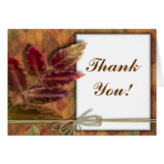 Autumn Fall wedding Thank You notecards Note Card