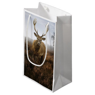 Autumn Fall with beautiful red deer stag Small Gift Bag