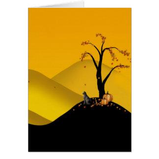 Autumn fantasy tree card