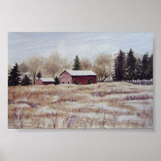 Autumn Farm Field- poster