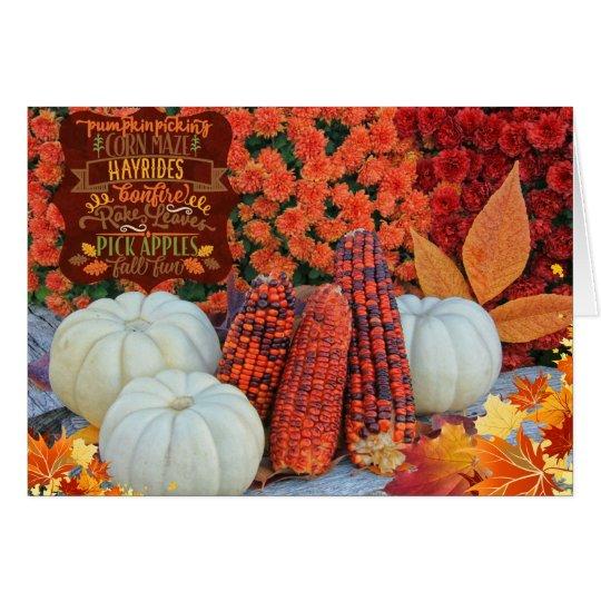 Autumn Favourites Greeting Card