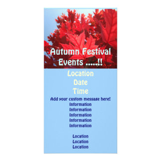 Autumn Festival Event Cards Annoucements Leaves Picture Card