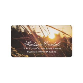 Autumn Field Sunset Fall Wedding Address Labels