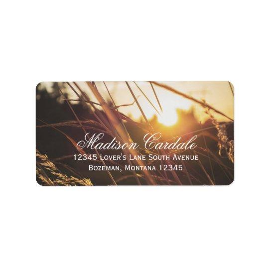 Autumn Field Sunset Fall Wedding Address Labels