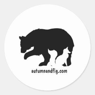 Autumn & Fig Classic Round Sticker