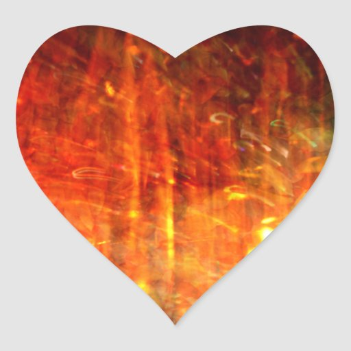 autumn fire abstract art heart sticker