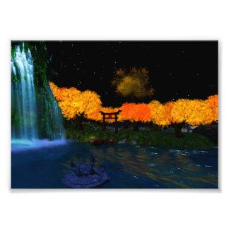"""Autumn Flames 7"""" x 5"""" Kodak Photo Print"""
