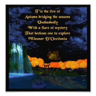 Autumn Flames Poetry Kodak Photo Art Print