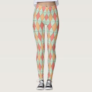 Autumn Flare Diamond Pattern Leggings