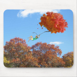 AUTUMN, FLOATING LEAVES by Slipperywindow Mouse Pad