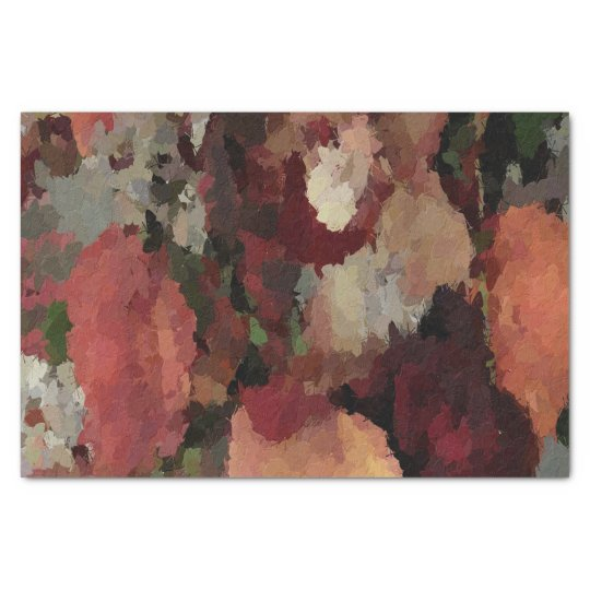 Autumn Floral Abstract tissue paper