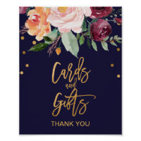 Autumn Floral Cards and Gifts Sign