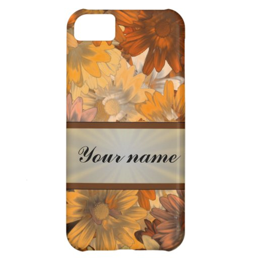 Autumn floral iPhone 5C covers