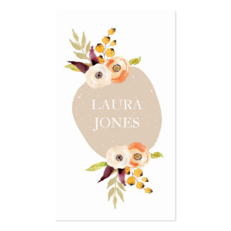 Autumn Floral Country Business Cards