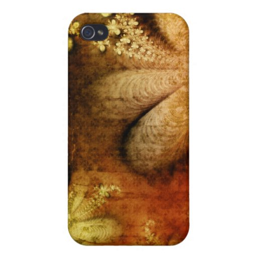 Autumn Floral Grunge iPhone Yellow Orange iPhone 4 Cover