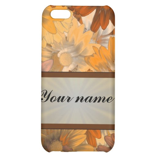 Autumn floral cover for iPhone 5C