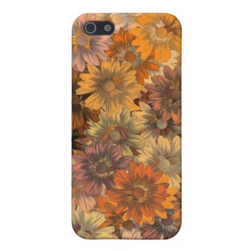 Autumn floral covers for iPhone 5