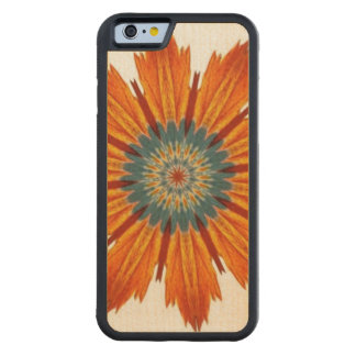 Autumn Floral Kaleidoscope Carved® Maple iPhone 6 Bumper