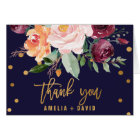 Autumn Floral Thank You Card
