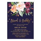 Autumn Floral with Wreath Backing Brunch & Bubbly Card