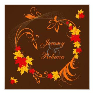 Autumn Flourish Wedding 13 Cm X 13 Cm Square Invitation Card