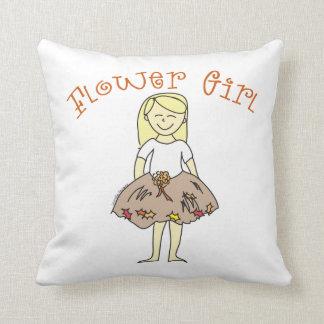 Autumn Flower Girl Throw Cushions