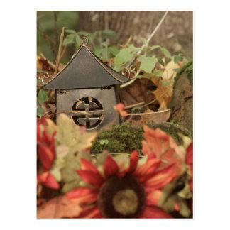 Autumn Flowers and Pagoda Postcard