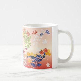 Autumn flowers basic white mug