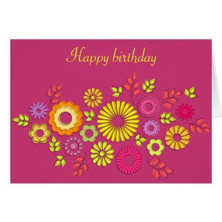 Autumn flowers Birthday card