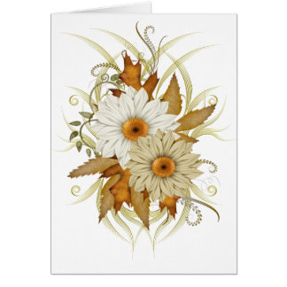 Autumn Flowers Cards