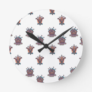 Autumn Flowers Clock