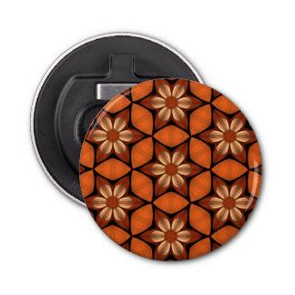 Autumn flowers geometric pattern warm colors bottle opener