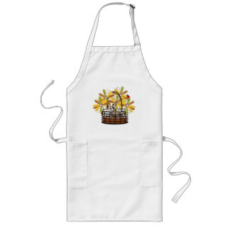 Autumn Flowers in Basket Long Apron