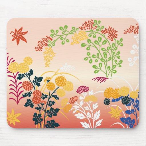 Autumn flowers mousepad