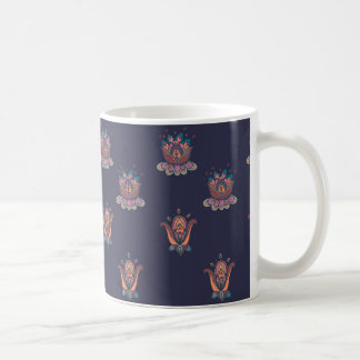 Autumn Flowers Mug Navy