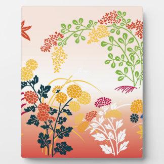 Autumn flowers photo plaques