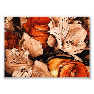 autumn flowers photographic print