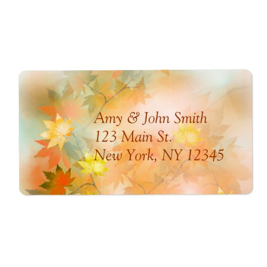 Autumn fog return address labels autm3