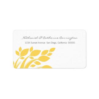 Autumn Foliage Address Labels, Yellow Label